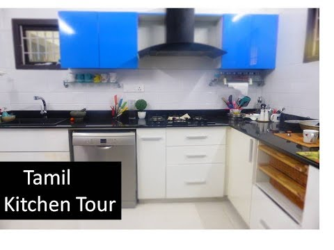 [Tamil]  MY Kitchen Tour [ Cabinet shelf Drawer tour ] DeepsTamilkitchen