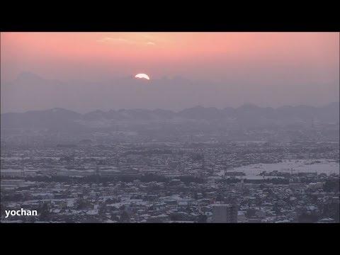 Sunset and Snow scene.Mount Myōgi (Gunma, JAPAN) 日没と雪景色(妙義山・群馬県)