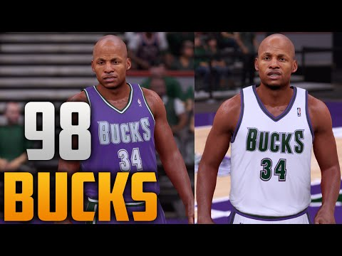 af456f4a084c NBA 2K18 Arena Creation  Milwaukee Bucks 1998 - 2006 (Bradley Center ...