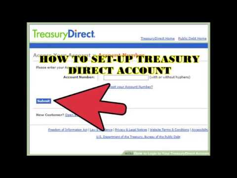 TREASURY DIRECT ACCOUNT SETUP