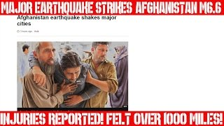 Special Earthquake Report | April 10, 2016 | Major Earthquake | Afghanistan M6.6 | Injuries | Panic