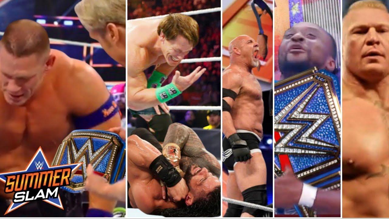 WWE SummmerSlam 2021- John Cena WINS Universal Championship  Goldberg Wins WWE Title   Brock Returns