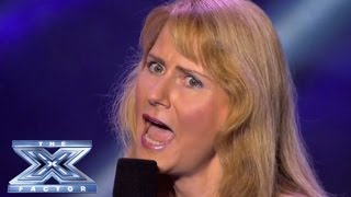 Melanie Wright Gets It All Wrong - THE X FACTOR USA 2013