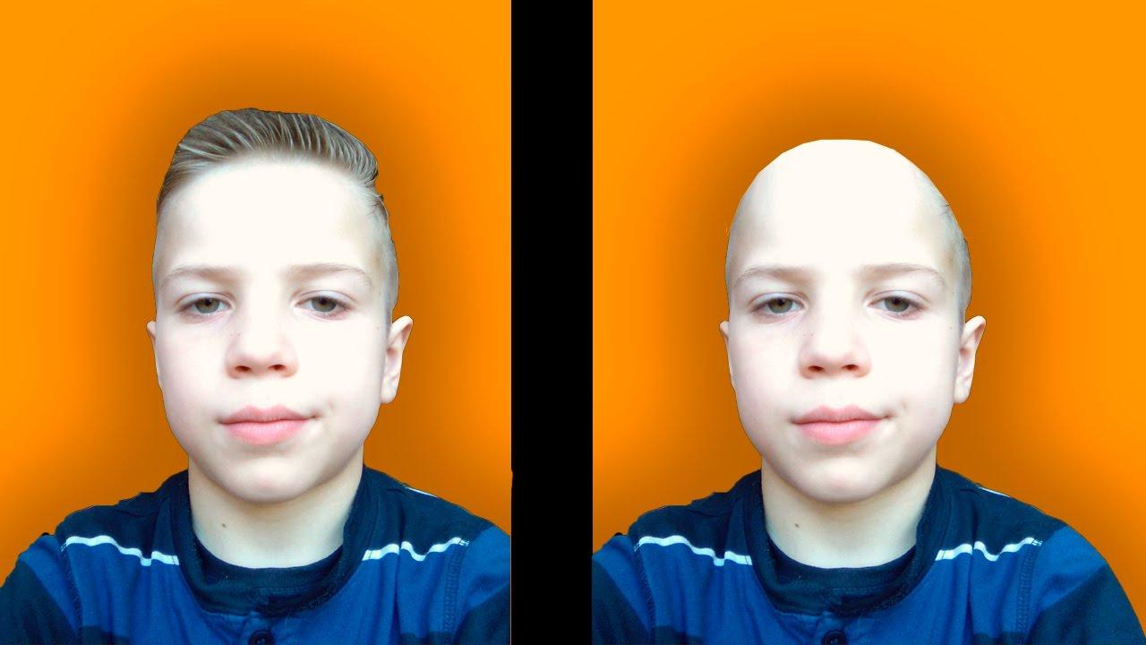 КАК СДЕЛАТЬ СЕБЯ ЛЫСЫМ НА ФОТО В Adobe Photoshop - YouTube