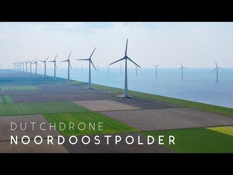 Dutch Wind Turbines At Noordoostpolder   Drone   DJI Mavic 2 Pro