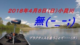 2018年4月8日(日)小貝川 水温は17度。 試合が近いので、色々とエリアを...
