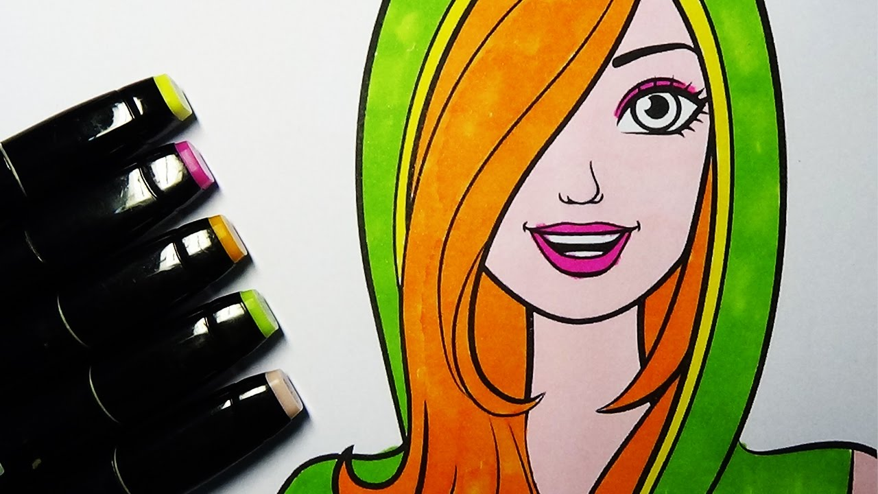 Barbie Coloring Book Pages For Kids Coloring Barbie's Face
