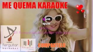 Paulina Rubio - Me Quema (KARAOKE LETRA) #fergutar