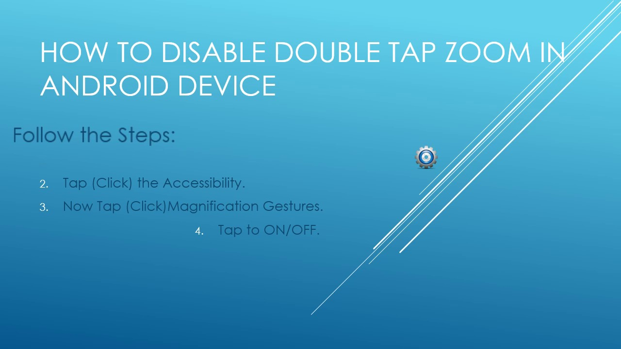 66e16322df13ae How to disable double tap zoom in Android - YouTube