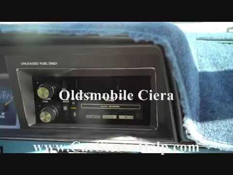 Oldsmobile Ciera Stereo Removal