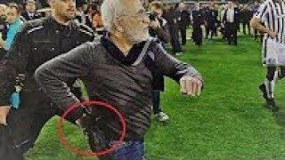 PAOK - AEK 11-03-2018. Ivan Savvidis(POAK PRESIDENT) Pitch Invasion with Gun