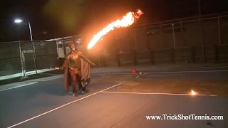 Enter the world of Extreme Tennis and the Most Amazing tennis trick...