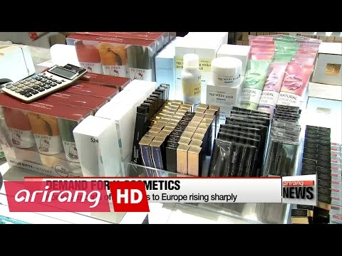 Korea's exports of cosmetics to Europe rising sharply