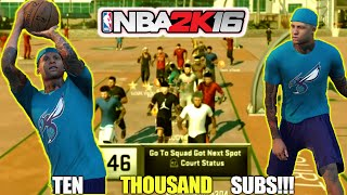 10K SUBS LIVE REACTION + HOOPMIXTAPE-NBA2K16 THANK YOU GUYS SO MUCH THIS GROWTH IS UNBELIEVABLE YO!!