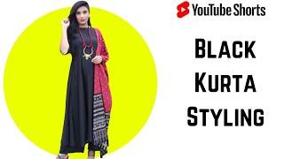 Black Kurti Set Styling   #shorts #aanchalshorts  Aanchal