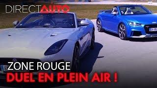 Le duel : AUDI TT RS vs. JAGUAR F-TYPE 400 SPORT
