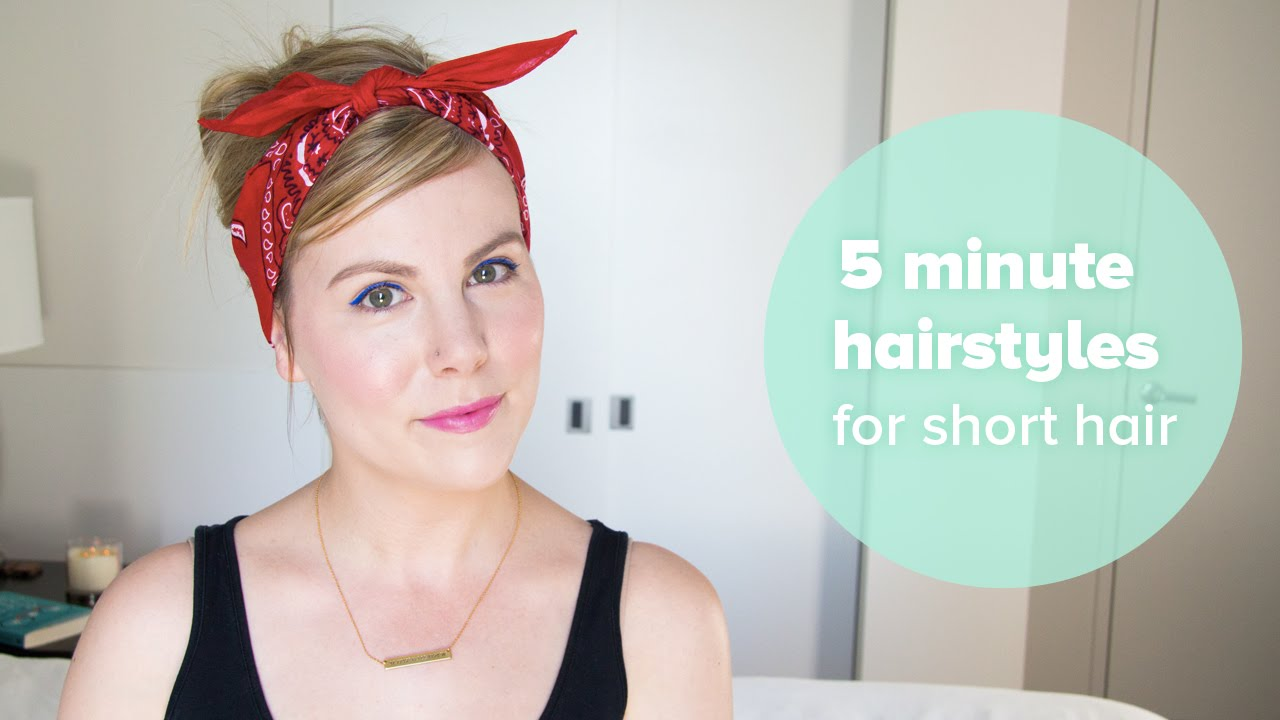 Hairstyles For Short Hair Under 5 Minutes: Tutorial: 5 Minute Hair Styles For Short Hair