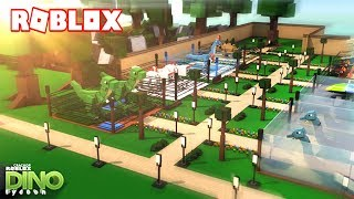 CREATE YOUR OWN JURASSIC WORLD IN ROBLOX!!! - DINO TYCOON in Spanish