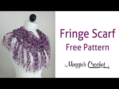 City Life Fringed Scarf Free Crochet Pattern by Maggie