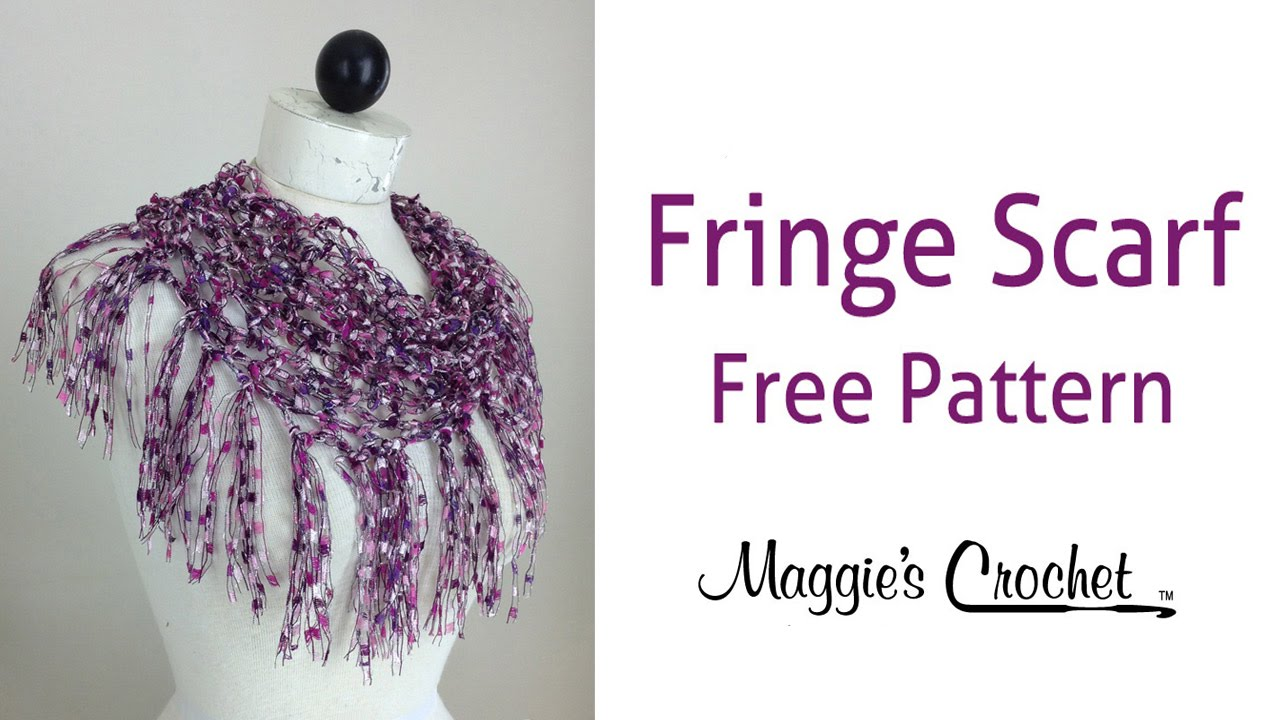 City Life Fringed Scarf Free Crochet Pattern by Maggie ...
