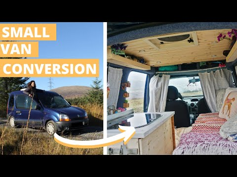 Tiny home on wheels KANGOO conversion - VAN TOUR