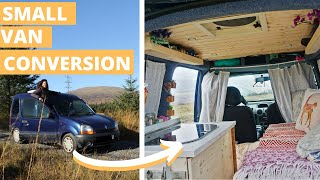 Tiny home on wheels KANGOO conversion - VAN TOUR
