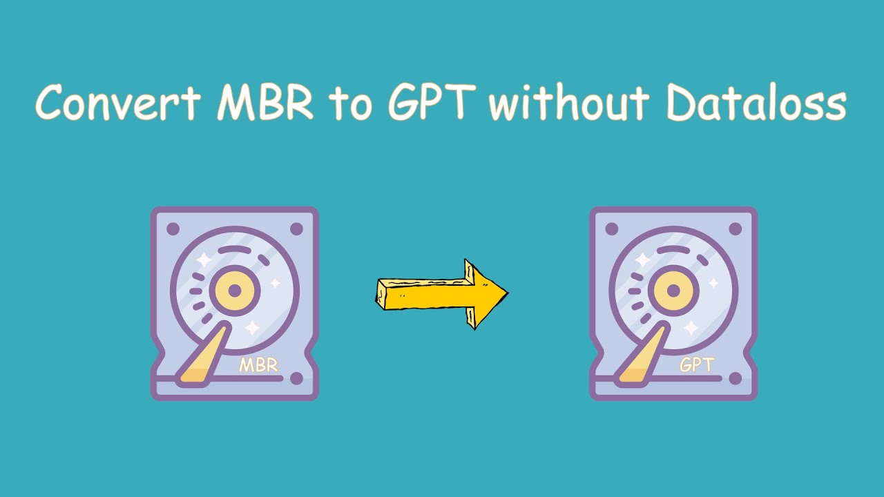 Convert MBR to GPT without Data Loss mp4