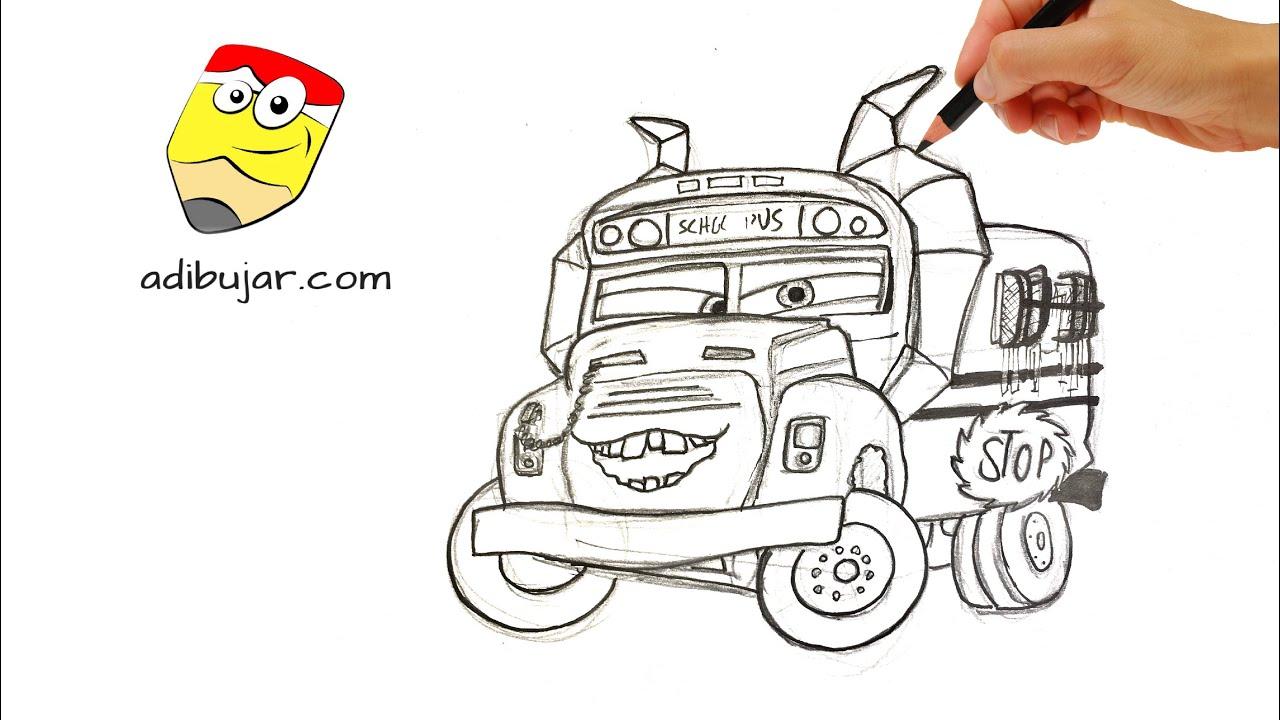 Cars 3: Cómo dibujar a Miss Fractura - Autobús escolar ...