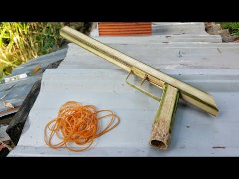 Making Rubber Band Gun from Bamboo
