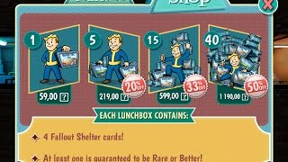 баг как бесплатно получит много кейсов кепсов в fallout shelter