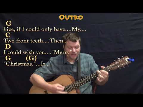 My Two Front Teeth (Christmas) Guitar Cover Lesson in G with Chords/Lyrics - Country