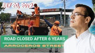 ROAD CLOSED AFTER 6 YEARS   ARROCEROS STREET LAWTON   MAYOR ISKO MORENO
