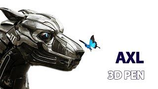 Creating A.X.L. with 3d pen | Рисуем Аксель 3д ручкой | 3d pen art tutorial | 3d pen lesson