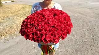 Рабочие моменты. 101 роза в Кировск   Бирюза Луганск   12 сент 2018