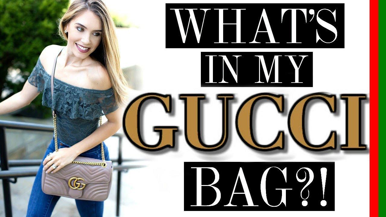 9da98d4f2e8c97 THE PERFECT BAG?!   WHAT'S IN MY GUCCI MARMONT MATELASSE SHOULDER ...