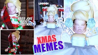 Recreación de SUS MEMES CHRISTMAS en Roblox Royale High