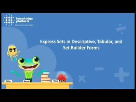 Express Sets In Descriptive, Tabular And Set Builder Form In Urdu