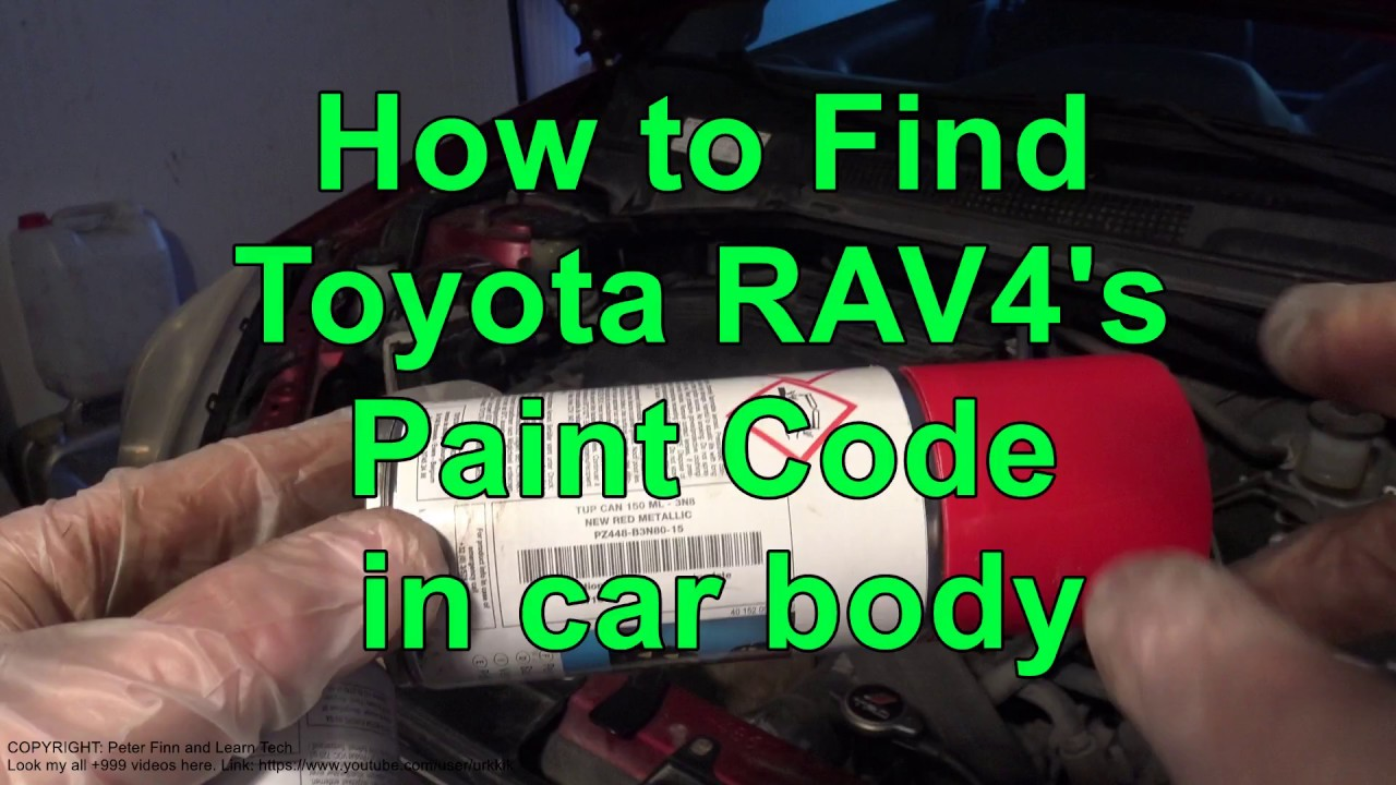 How to Find Toyota RAV4 Paint Code in car body - YouTube