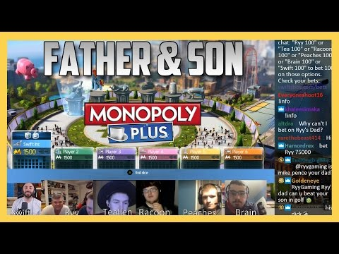 Monopoly - Father and Son Duo take on Uncle Moneybags! Webcams and Chat Included
