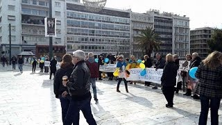 Митинг «Stop Putin 3.0» в Афинах