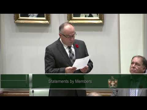 Member for Conception Bay South - Mr. Barry Petten - Nov 6 2017
