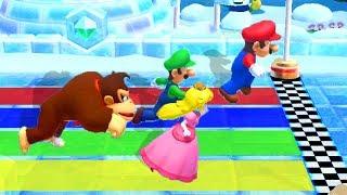 Mario Party 10 - Minigames - Mario vs Peach vs Donkey Kong vs Luigi - Master CPU