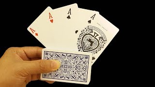 Crazy Magic Card Trick With 4 Aces Anyone Can Do