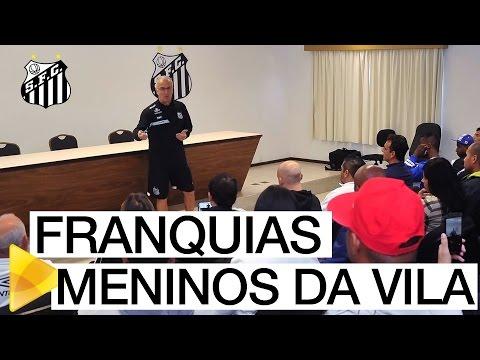 Santos realiza workshops para as franquias Meninos da Vila