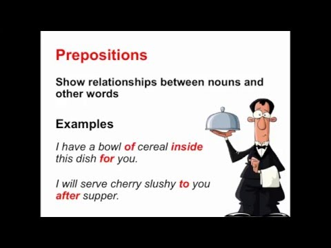 Prepositions | Parts of Speech App