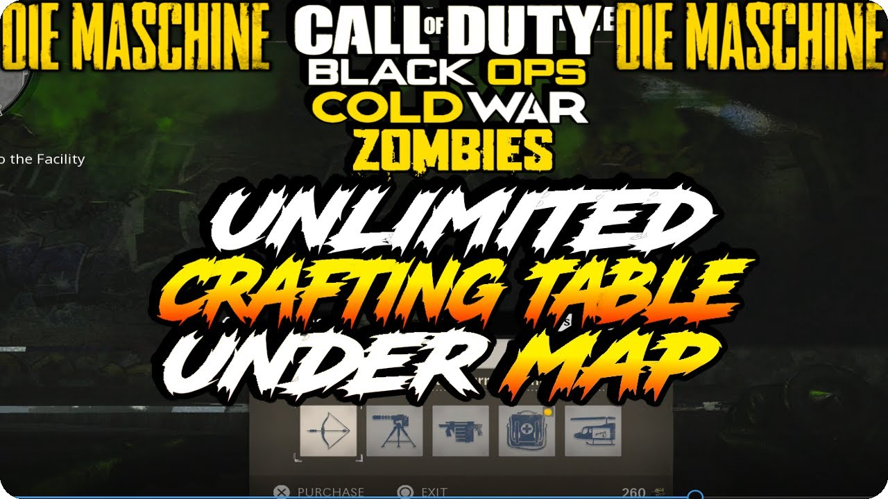 Cold War Zombie Glitches Unlimited Crafting Table Killstreaks Under Map Die Maschine Glitches Youtube