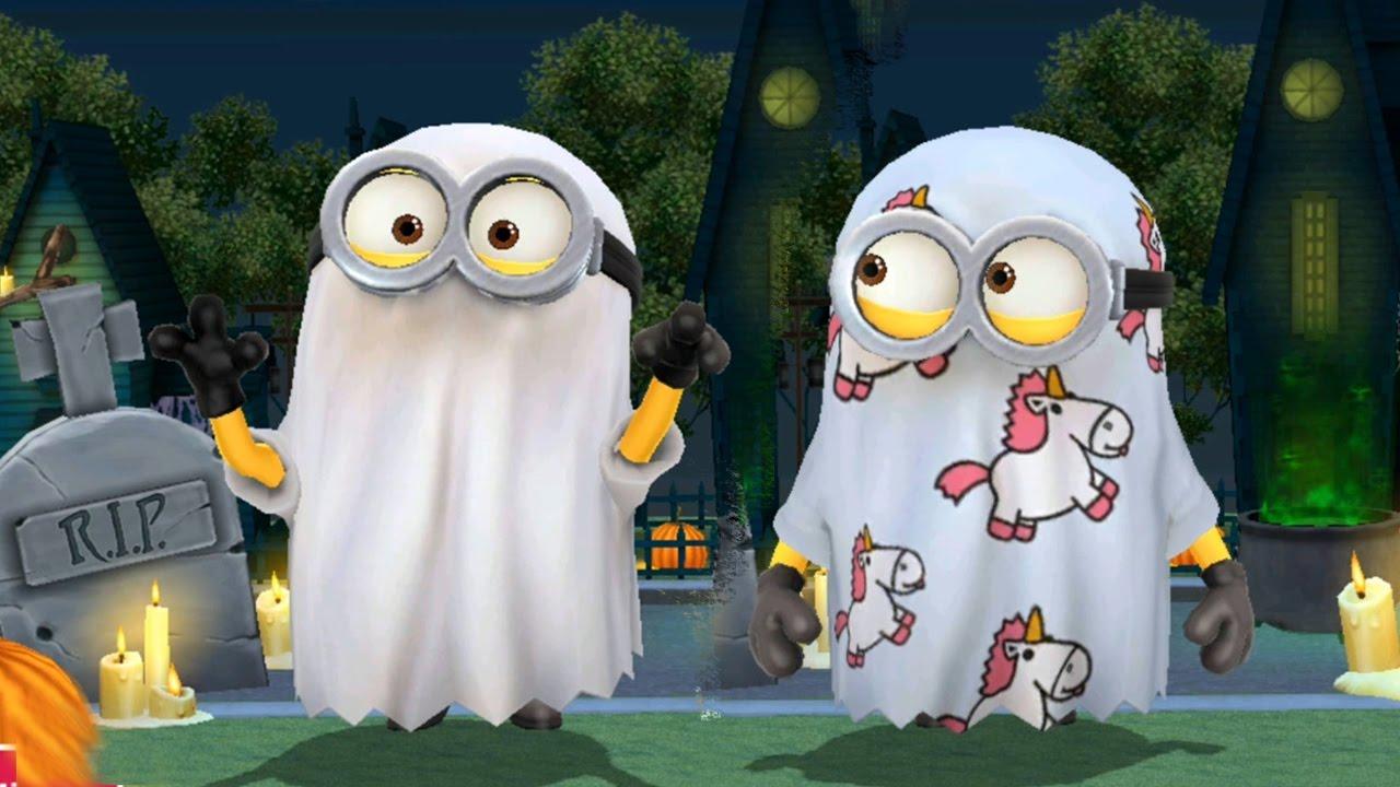 despicable me 2 - minion rush : ghost minion costume halloween