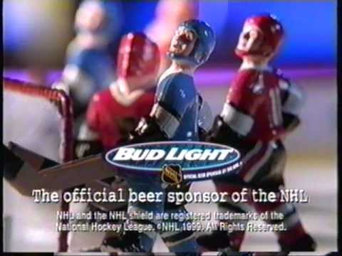 Bud Light - Official NHL sponsor commercial 1999