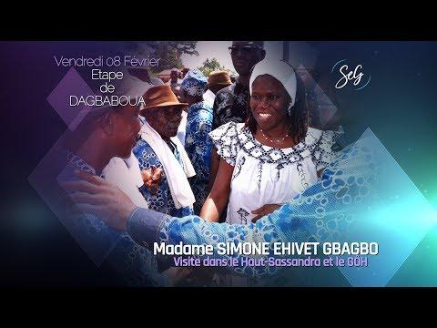 DALOA 2019 : MADAME SIMONE EHIVET GBAGBO FAIT UNE ESCALE À DAGBABOUA.