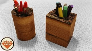 Live Edge Pencil/pen Holders - Jackman Carpentry